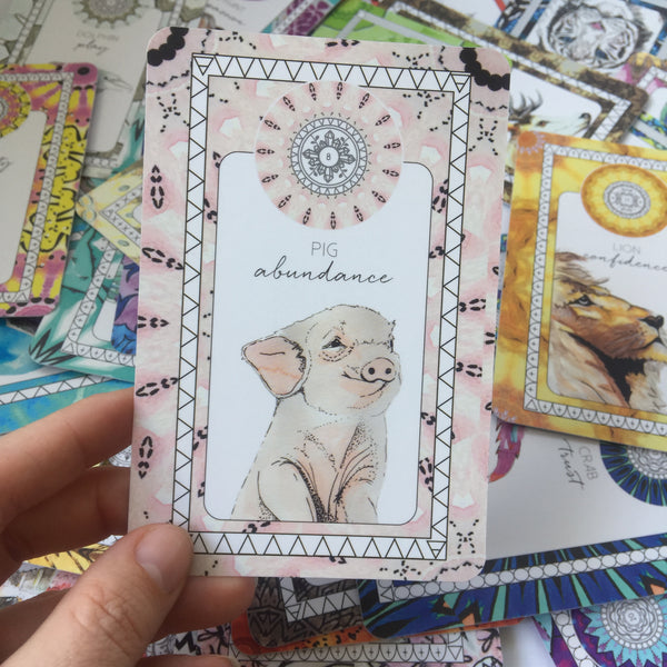 animal kin oracle deck pig card the fifth element life