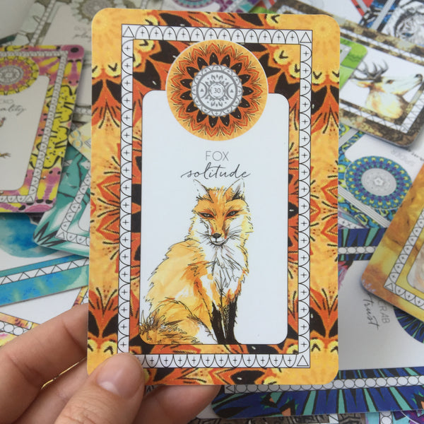 fox oracle card the fifth element life animal kin