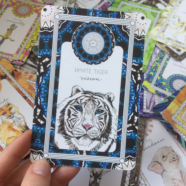 white tiger oracle card animal kin the fifth element life