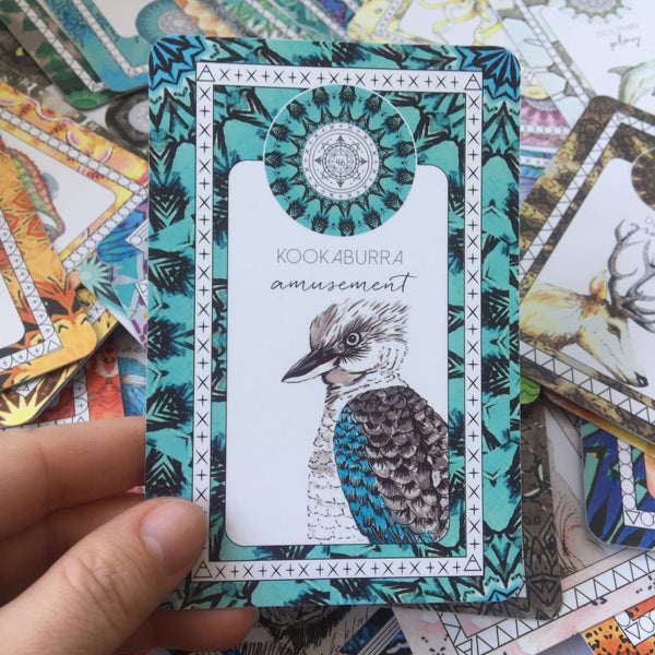 kookaburra spiritual meaning oracle card the fifth element life