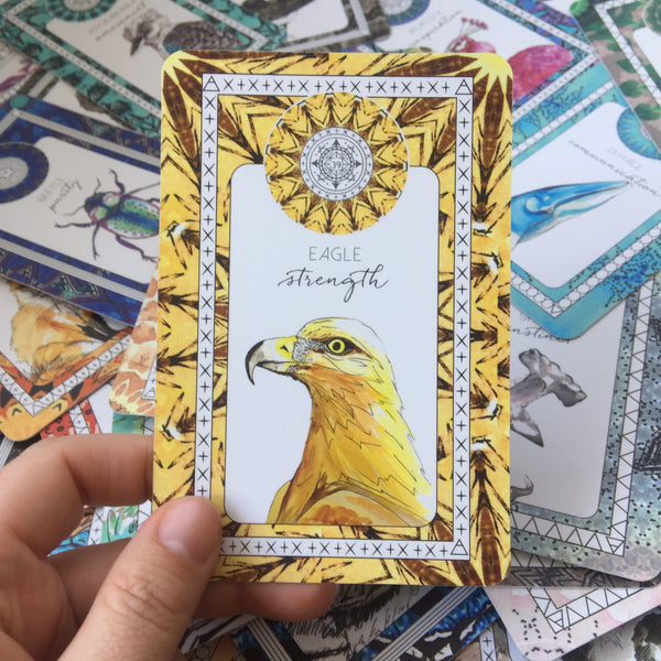 eagle oracle card animal kin the fifth element life