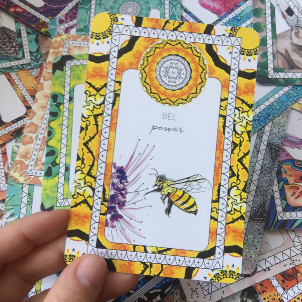 bee spirit animal card sarah wilder the fifth element life