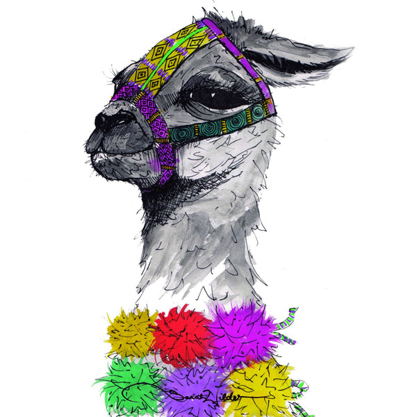 ALPACA ILLUSTRATION SARAH WILDER THE FIFTH ELEMENT LIFE