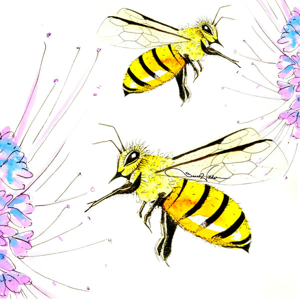 bee illustration by sarah wilder the fifth element life
