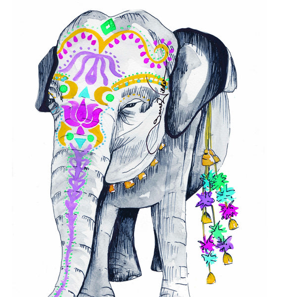 ELEPHANT ILLUSTRATION SARAH WILDER THE FIFTH ELEMENT LIFE