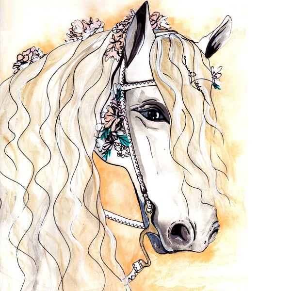 HORSE ILLUSTRATION SARAH WILDER THE FIFTH ELEMENT LIFE