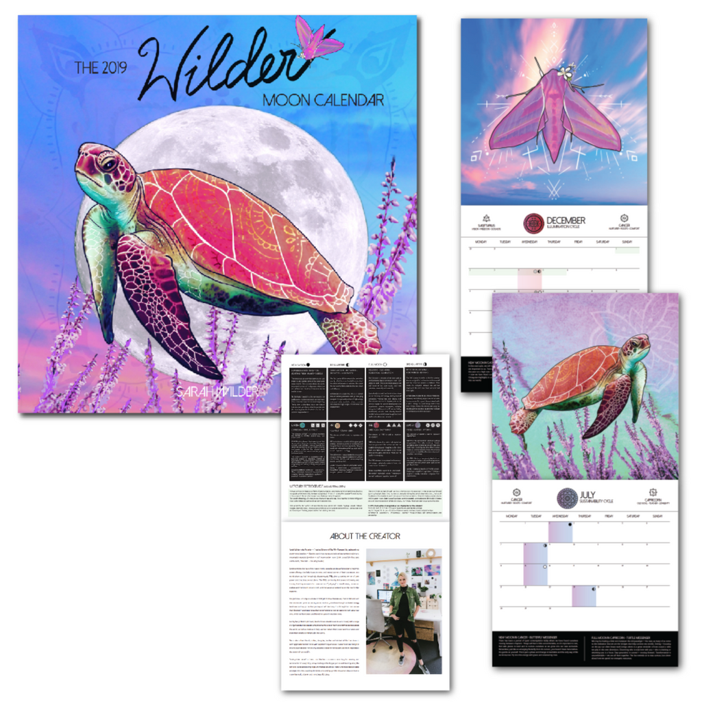 THE 2019 WILDER MOON CALENDAR PRE-ORDER NOV DELIVERY