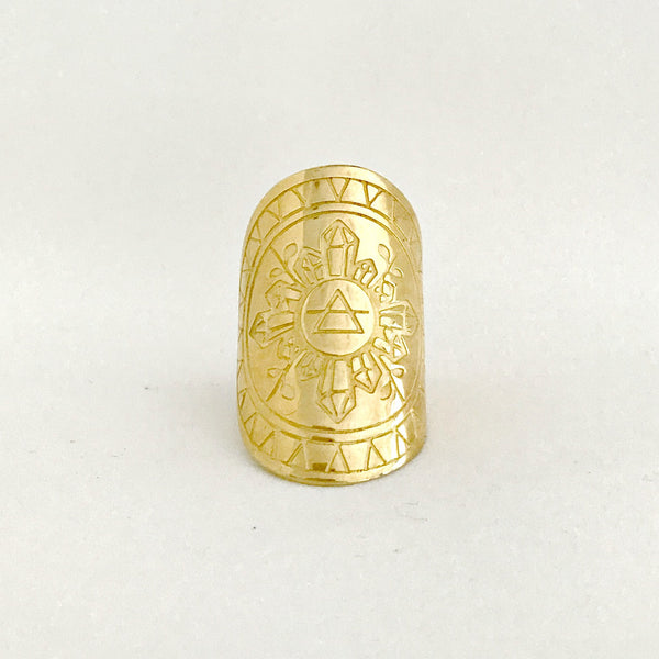 EARTHESS MANDALA RING - GOLD PRE-ORDER (MID-LATE AUGUST DEL)