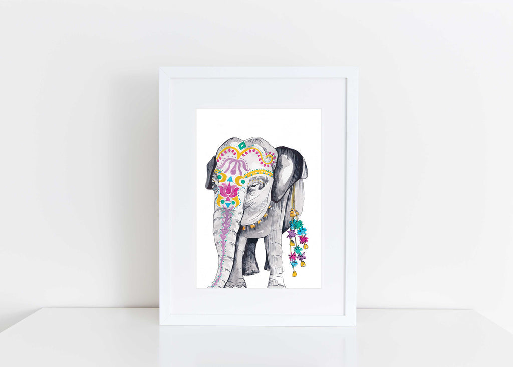 'ELEPHANT OF COMPASSION' WATERCOLOUR PRINT