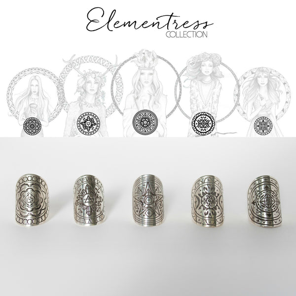 Full Elementress Mandala Ring Set by The Fifth Element Life
