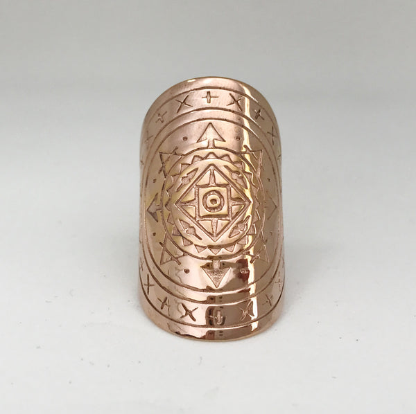 AIRESS MANDALA RING - PLATED ROSE GOLD PRE-ORDER (EARLY SEPT DEL)