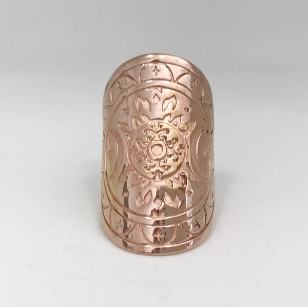 FIRESS MANDALA RING - PLATED ROSE GOLD PRE-ORDER (EARLY SEPT DEL)