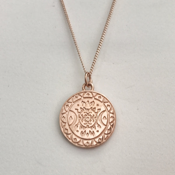 FIRESS PENDANT IN PLATED ROSE GOLD