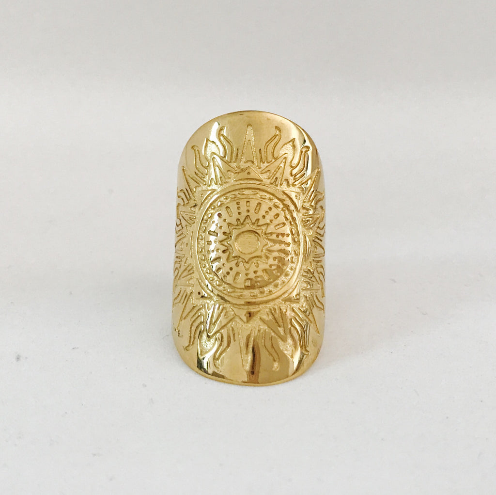 CLARITY MANDALA RING - PLATED 18K YELLOW GOLD (PRE-ORDER SEPT DELIVERY)