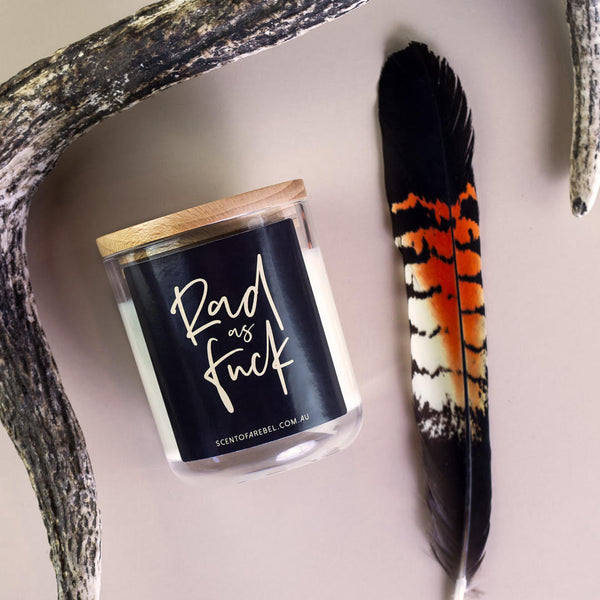 'RAD AS FUCK' - SOY QUOTE CANDLE