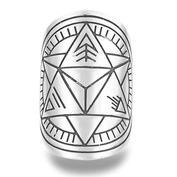 Divine Duality Mantra Mandala Ring by The Fifth Element Life