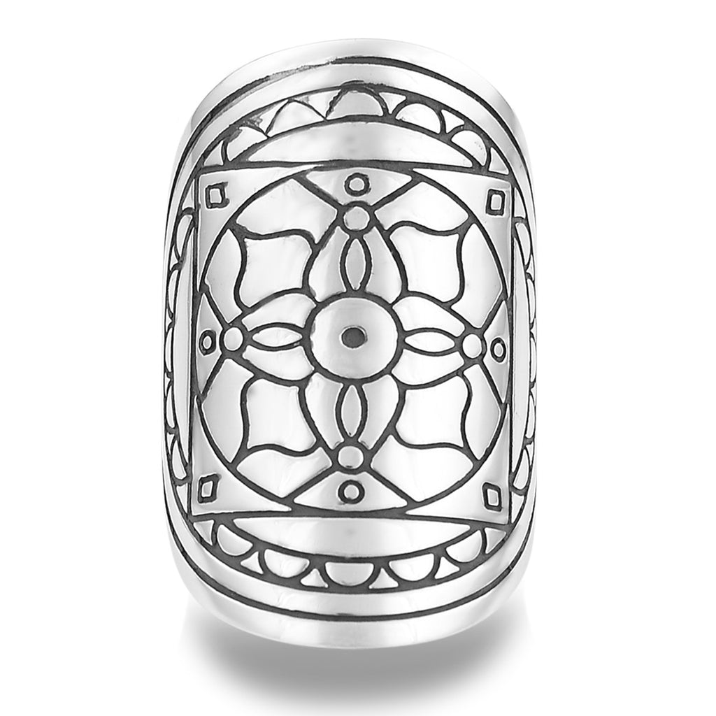 Nourish and Nurture Mantra Mandala Ring by The Fifth Element