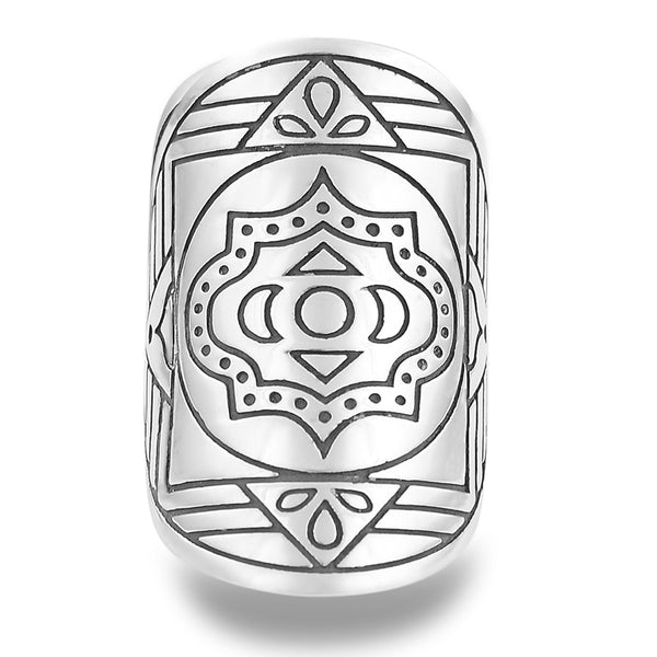 Boss Goddess Mantra Mandala Ring by The Fifth Element Life