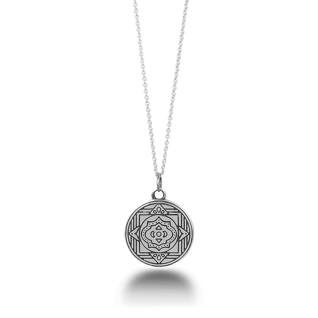 Boss Goddess Mantra Mandala Pendant by The Fifth Element Life