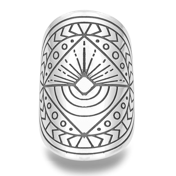 Infinite Abundance Mantra Mandala Ring by The Fifth Element Life