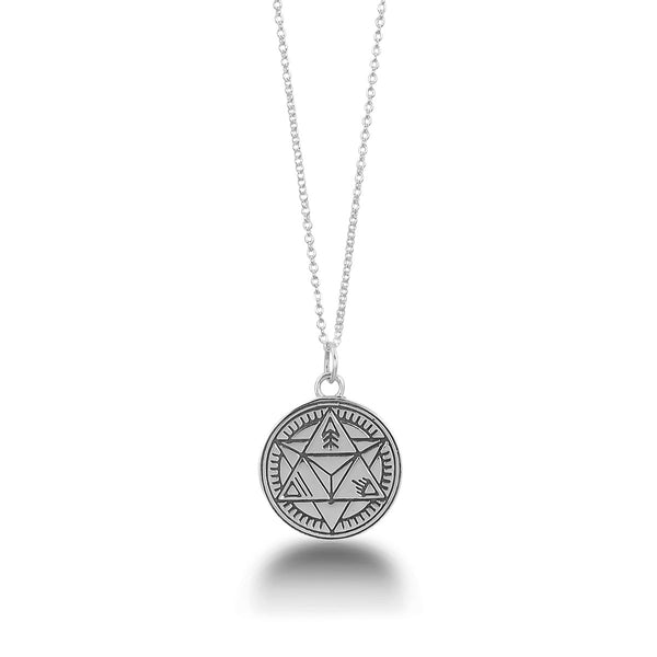 Divine Duality Mantra Mandala Pendant by The Fifth Element Life