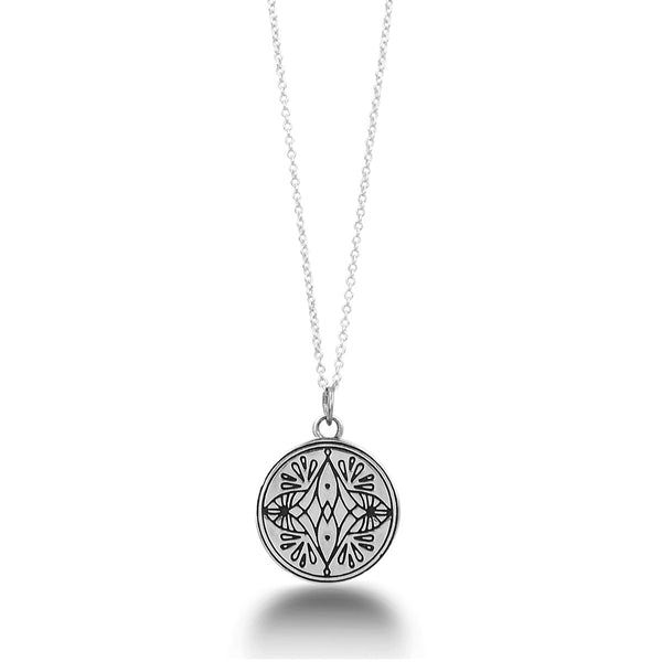 FORGIVENESS IS FREEDOM MANTRA MANDALA PENDANT NECKLACE
