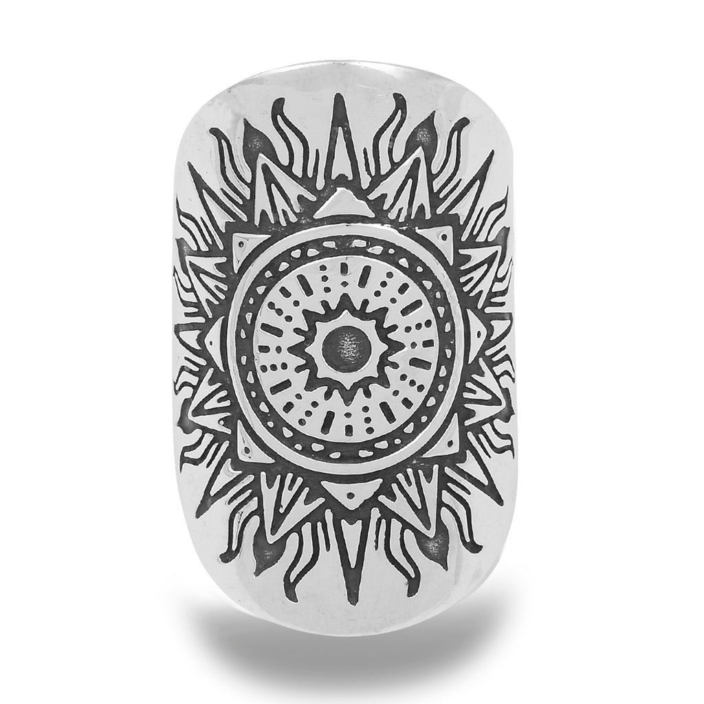 CLARITY MANDALA RING - STERLING SILVER