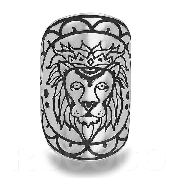 LION KIN MANDALA RING IN STERLING SILVER
