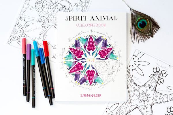 SPIRIT ANIMAL COLOURING BOOK BY SARAH WILDER