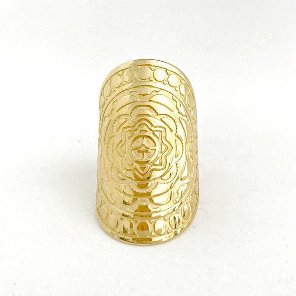 WATERESS MANDALA RING - PLATED 18K YELLOW GOLD PRE-ORDER (LATE AUG DEL)
