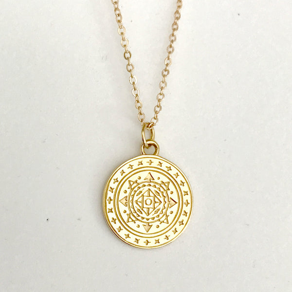 AIRESS PENDANT IN PLATED 18K YELLOW GOLD
