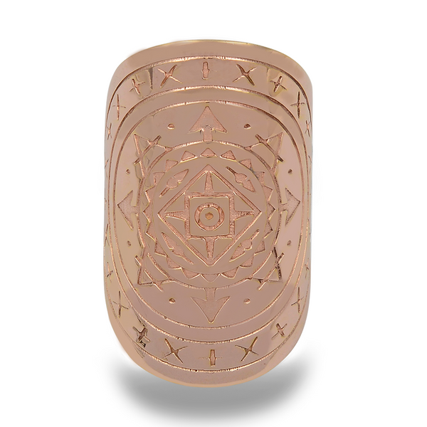 AIRESS MANDALA RING IN 18k PLATED ROSE GOLD