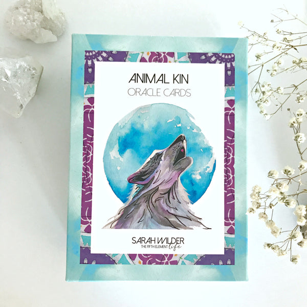 ANIMAL KIN ORACLE CARD DECK - 3RD EDITION ('WOLF' DESIGN) EARLY OCT DELIVERY