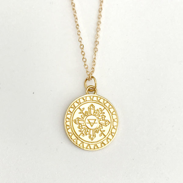 EARTHESS PENDANT NECKLACE GOLD - PRE-SALE (MID-LATE AUG DEL)