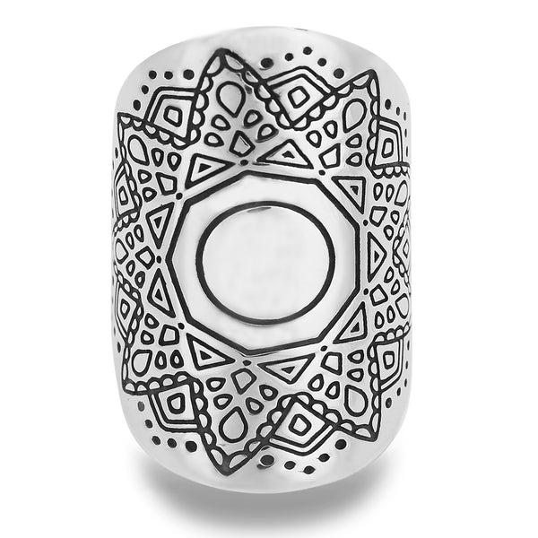 RELEASE MANDALA RING IN STERLING SILVER