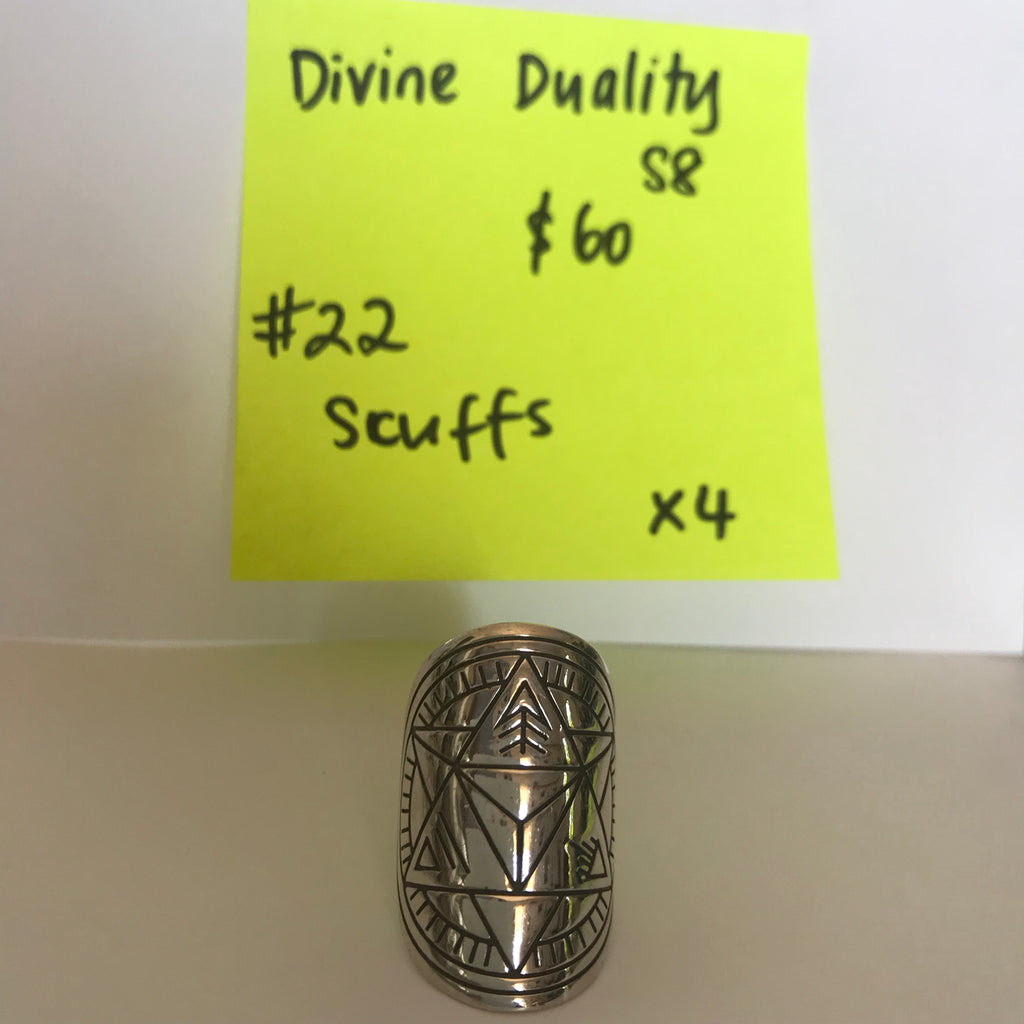 022 Divine Duality mandala ring size S