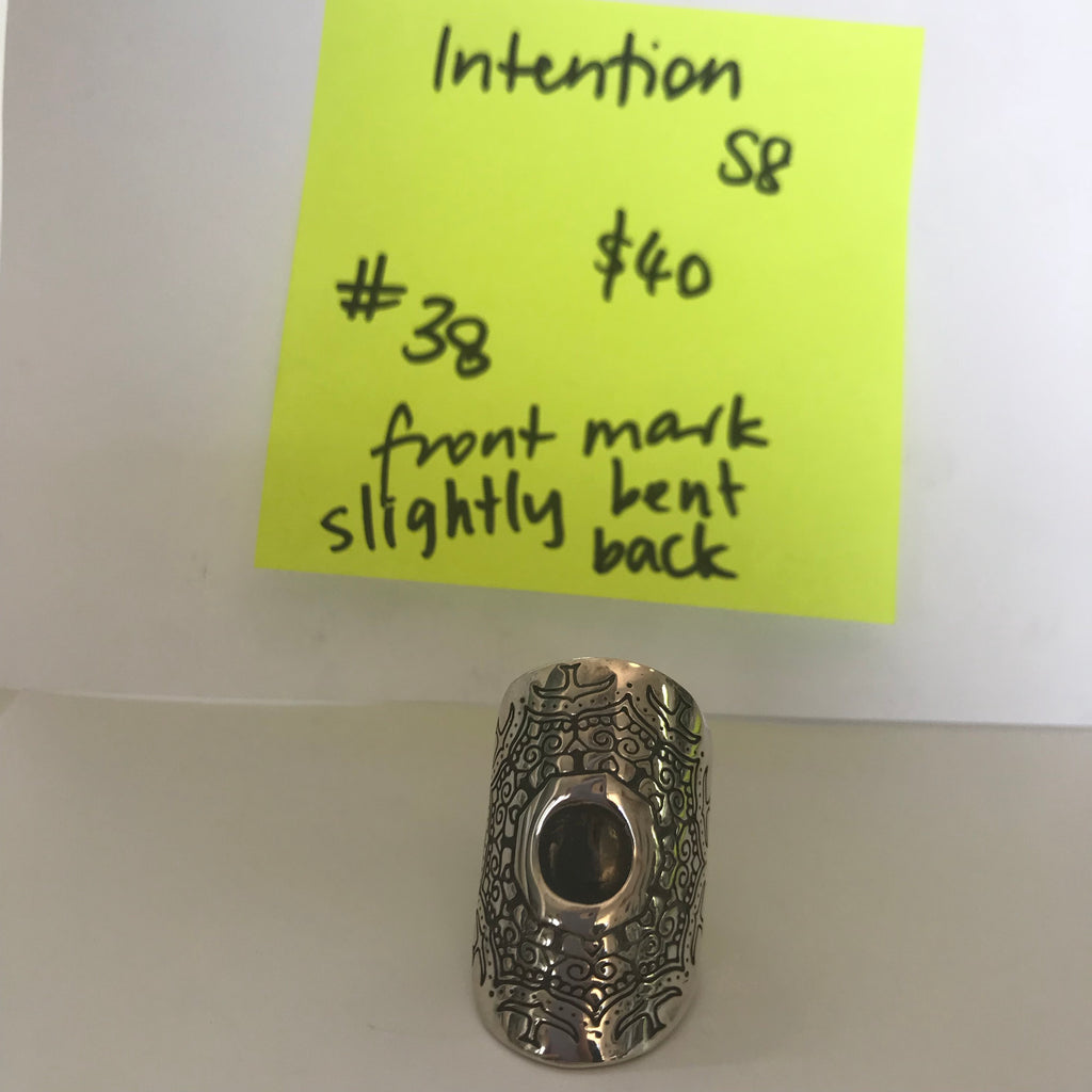 038 Intention moon ring size m-l