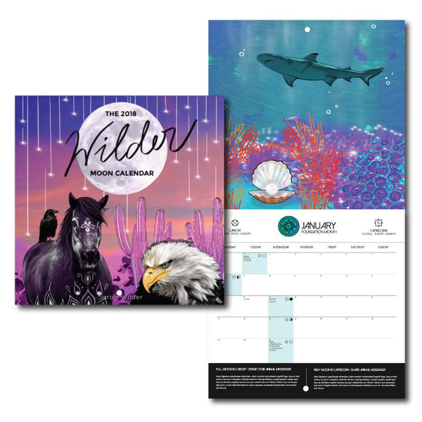 WHOLESALE 10 PACK: THE 2018 WILDER MOON CALENDAR PRE-SALE (NOV DELIVERY)