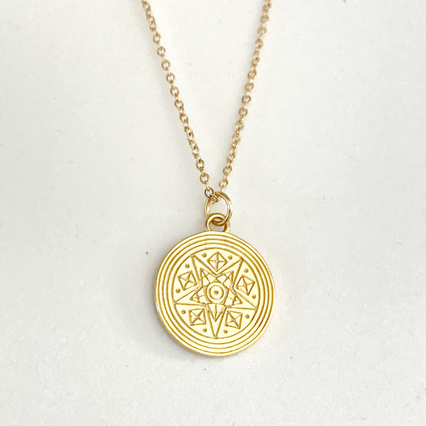 SPIRITESS PENDANT NECKLACE PLATED 18K YELLOW GOLD - PRE-SALE (LATE AUG DELIVERY)