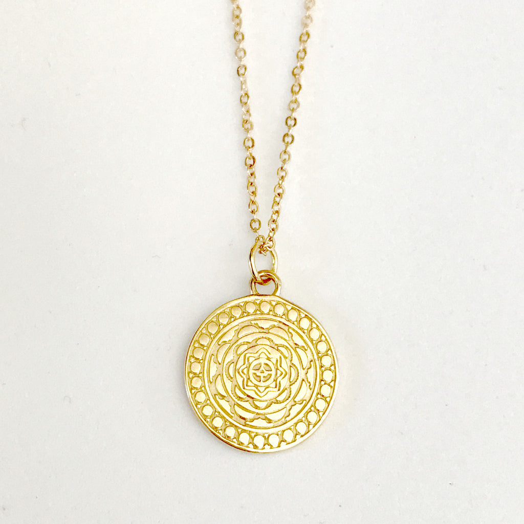 WATERESS PENDANT NECKLACE PLATED 18K YELLOW GOLD - PRE-ORDER (MID-LATE AUG DEL)