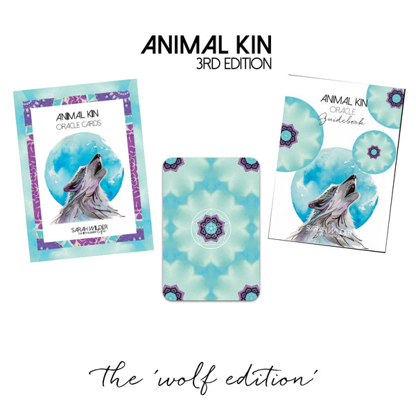 PRE-ORDER ONLY >> ANIMAL KIN ORACLE CARD DECK - 3RD EDITION ('WOLF' DESIGN) SEPT DELIVERY
