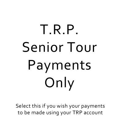 Senior Tour 2019 - TRP's to be Applied to Payment