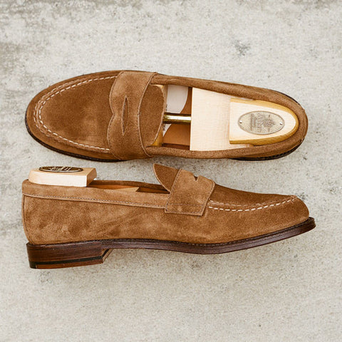 Alden Snuff Suede Unlined Penny Loafer
