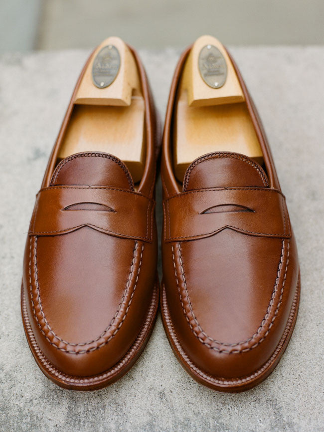 Alden Burnished Tan Leisure Hand-sewn Penny Loafer