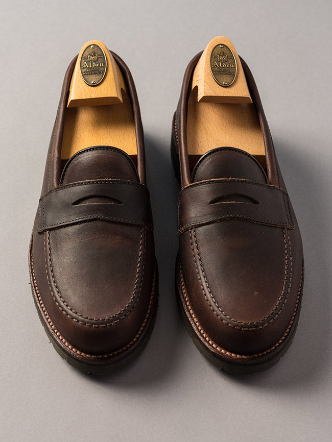 Alden Brown Kudu Penny Loafer