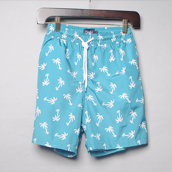 Drake's Teal Palm Tree Swim Trunks