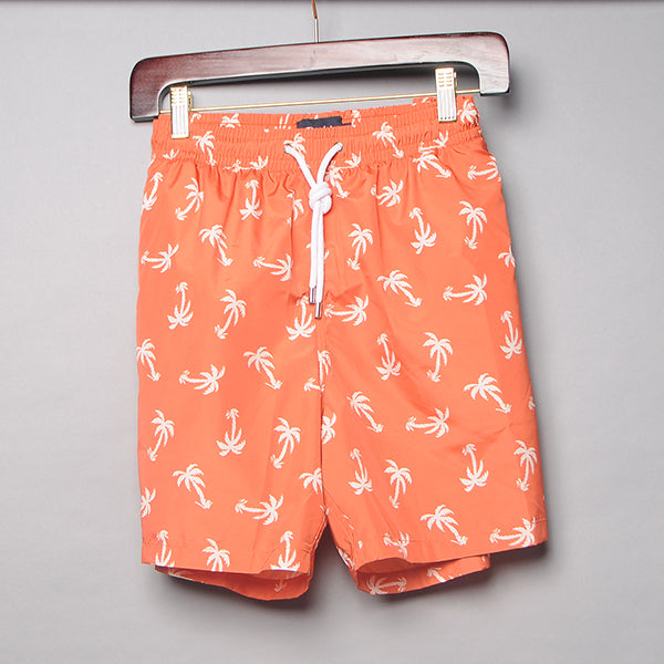Drake's Orange Palm Tree Swim Trunks