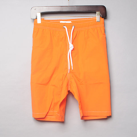 Alan Paine Orange Solid Swim Trunks