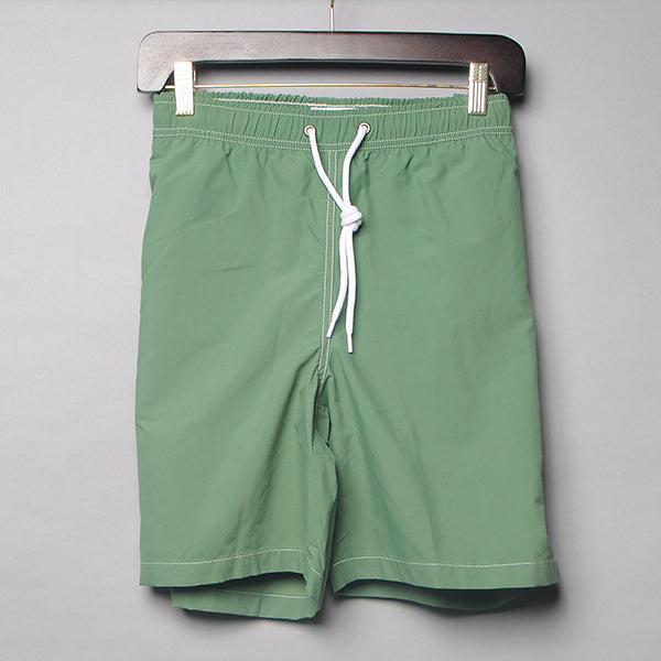 Alan Paine Green Solid Swim Trunks