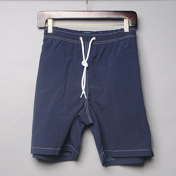 Alan Paine Navy Solid Swim Trunks
